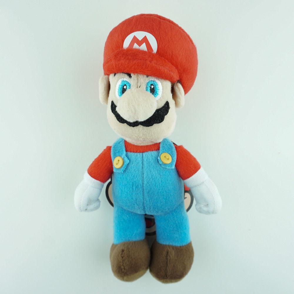 "Super Mario Bros Plush Clip On 8"" Bags Kids Room Decor Video"