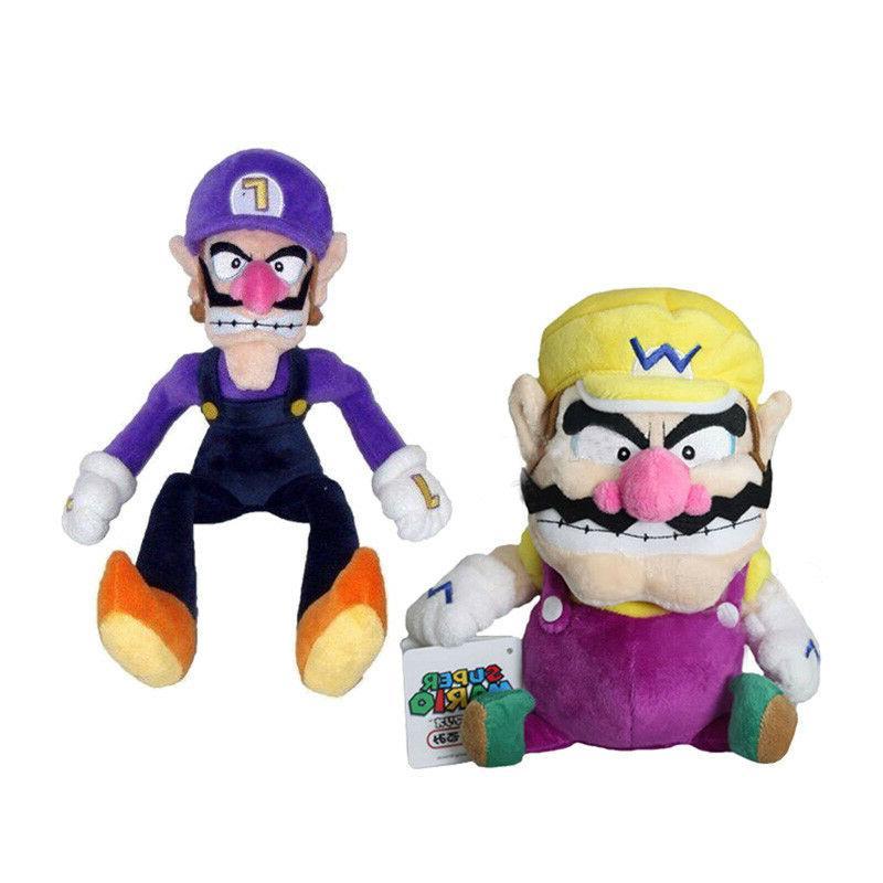 Super Mario Bros Plushie Wario and Waluigi Plush Doll Stuffe