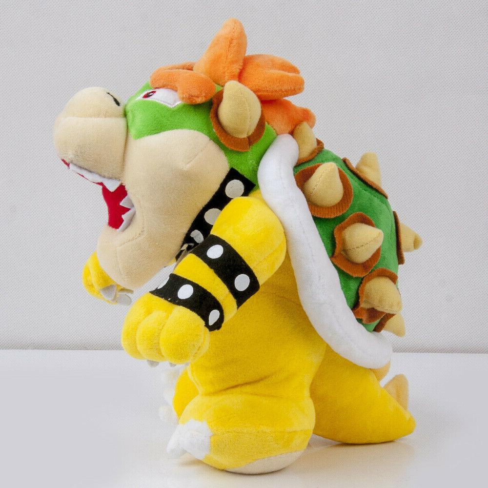 Super Mario King Bowser Koopa Plush Toy Stuffed Doll 10In