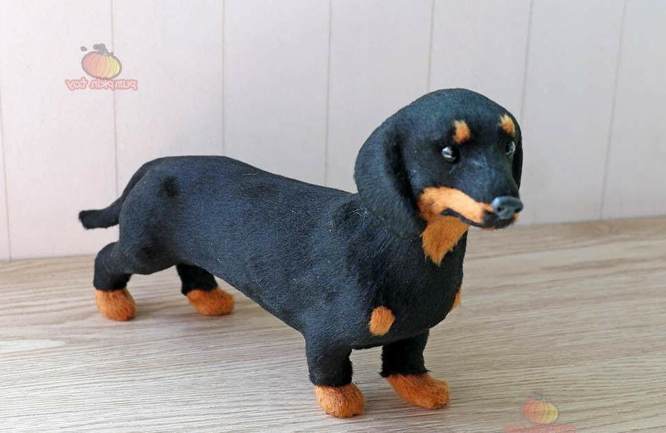 Super Realistic Dachshund Animal Rare Figurine Dog
