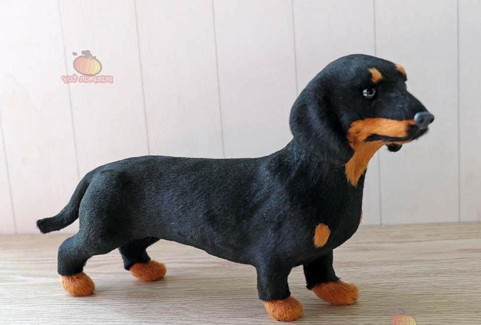 Super Dachshund Stuffed Figurine