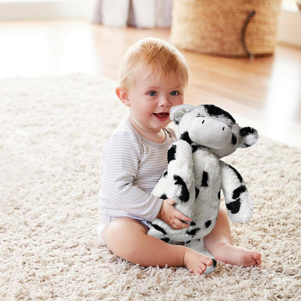 Sweet Cream Cow Stuffed Plush Animal Black Kids Toy