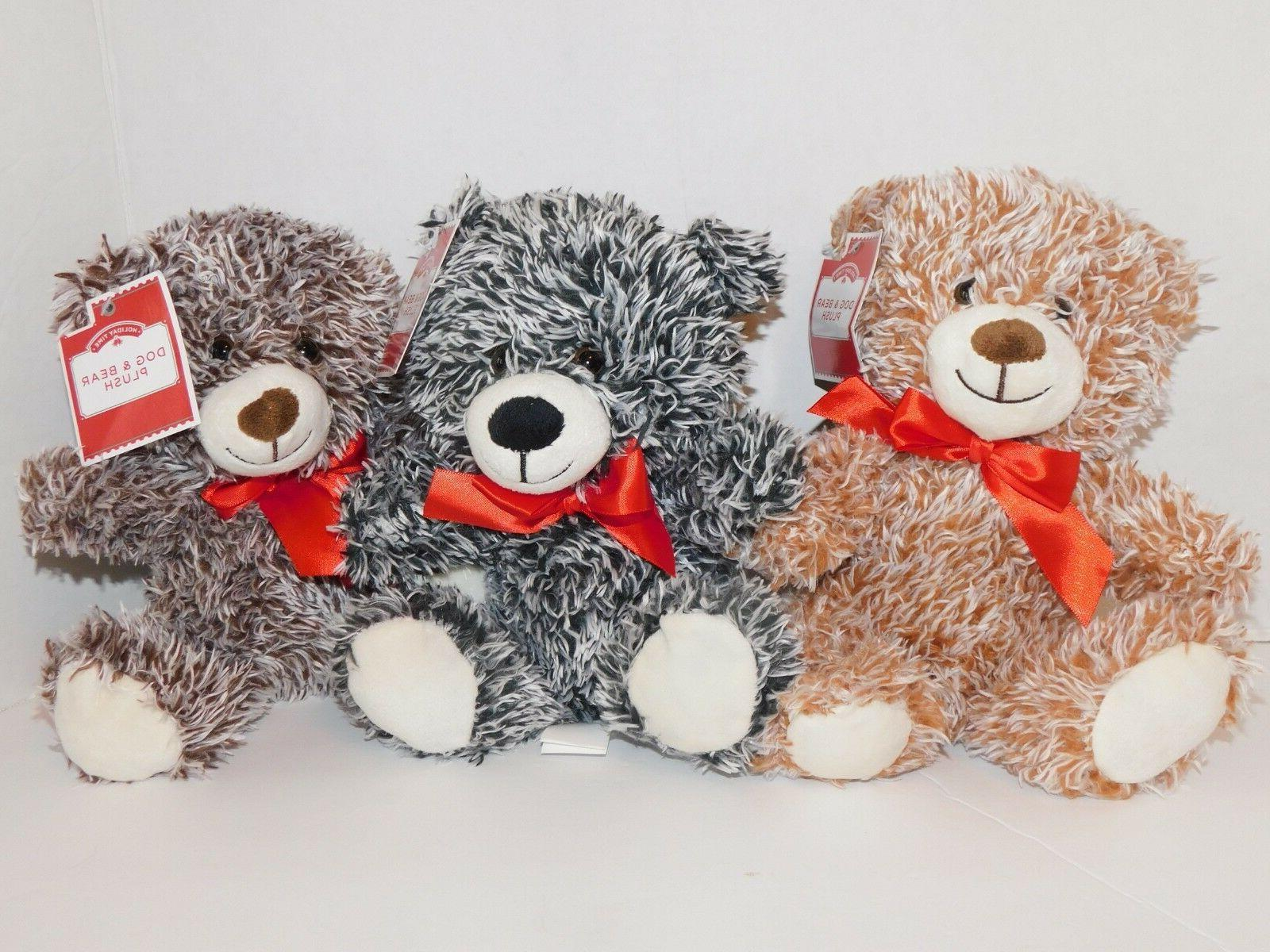 teddy bears plush stuffed animals three beige
