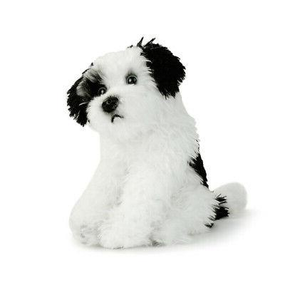 DEMDACO Mix Rescue Breed Dog Soft White 10 inch Plush Fabric Stuffed Figure Toy