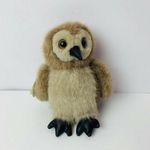 "The Collection Owl Plush Ollie Stuffed Animal Bird Tan 6"""