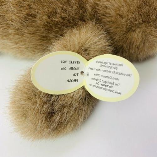 The Bearington Collection Owl Plush Ollie Animal Bird