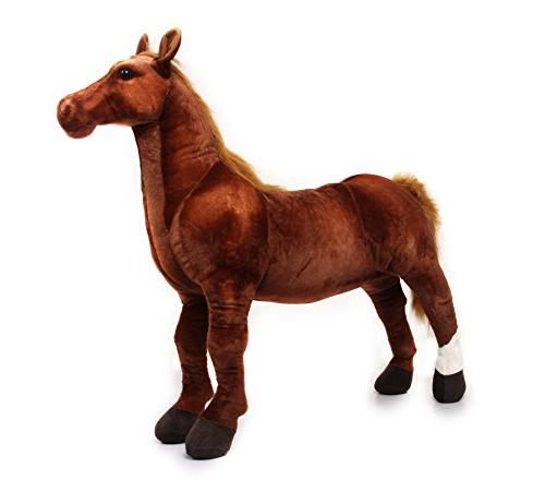 VIAHART Thorsten Thoroughbred Horse Big Animal Plush Pony Shipping from Texas Tiger Tale