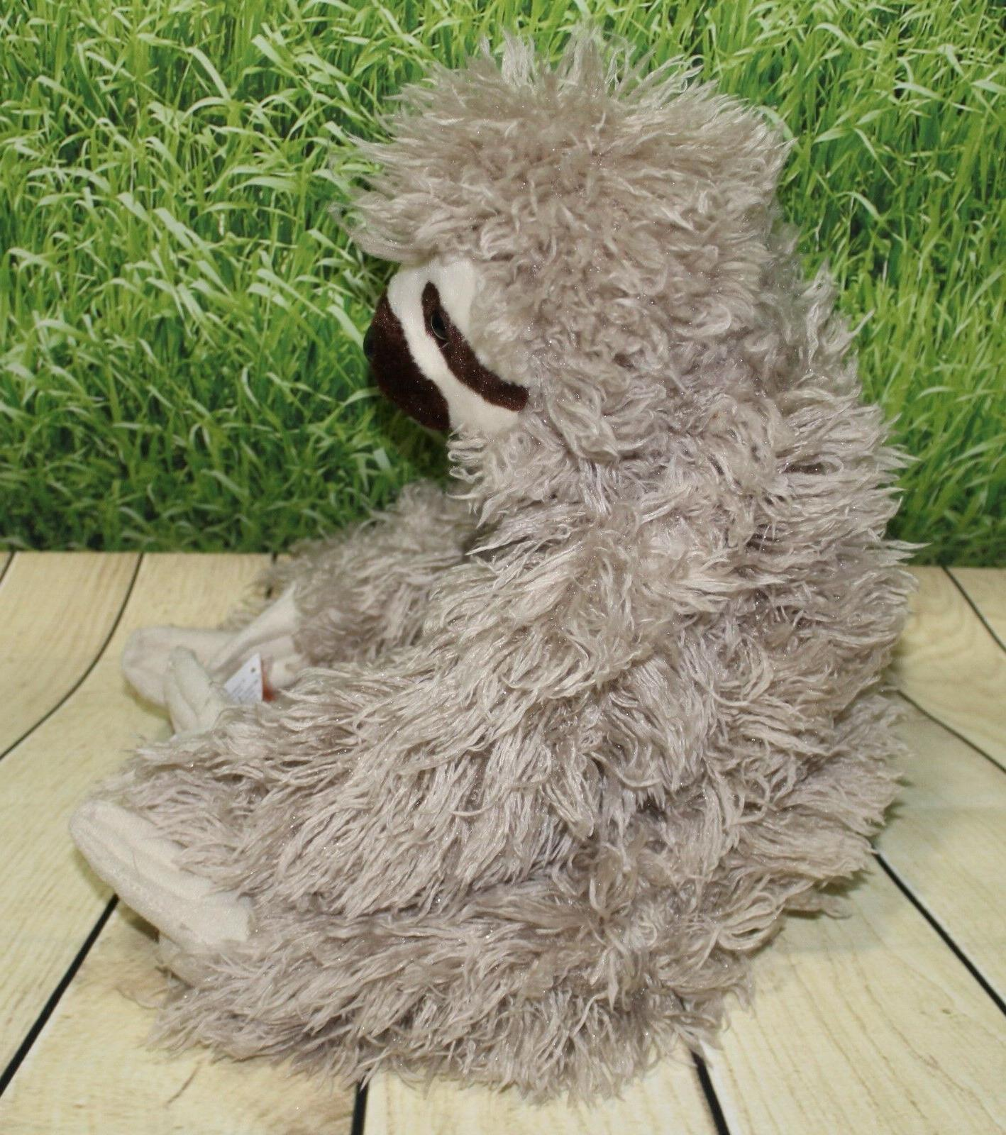 "Wild THREE TOED SLOTH 12"" Stuffed NEW"