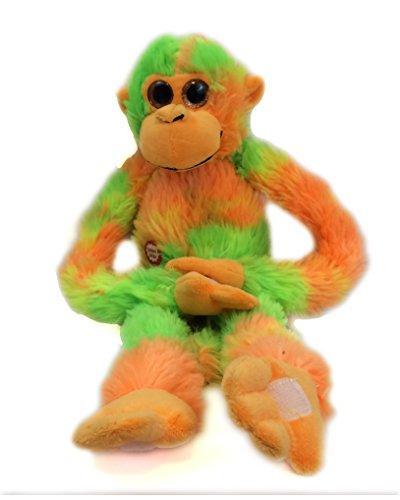 tie dye orange green screeching