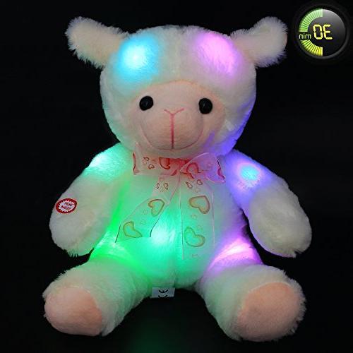 timer stuffed cuddly baby lamb