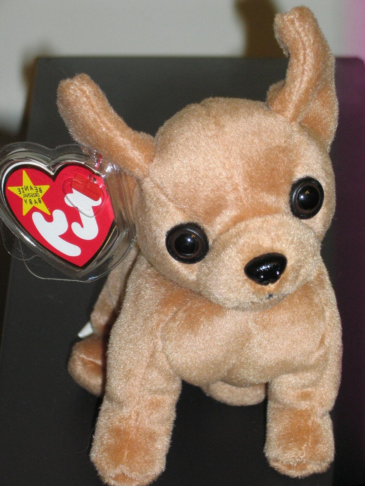 Ty Beanie Baby ~ TINY the Chihuahua Dog  MWMT