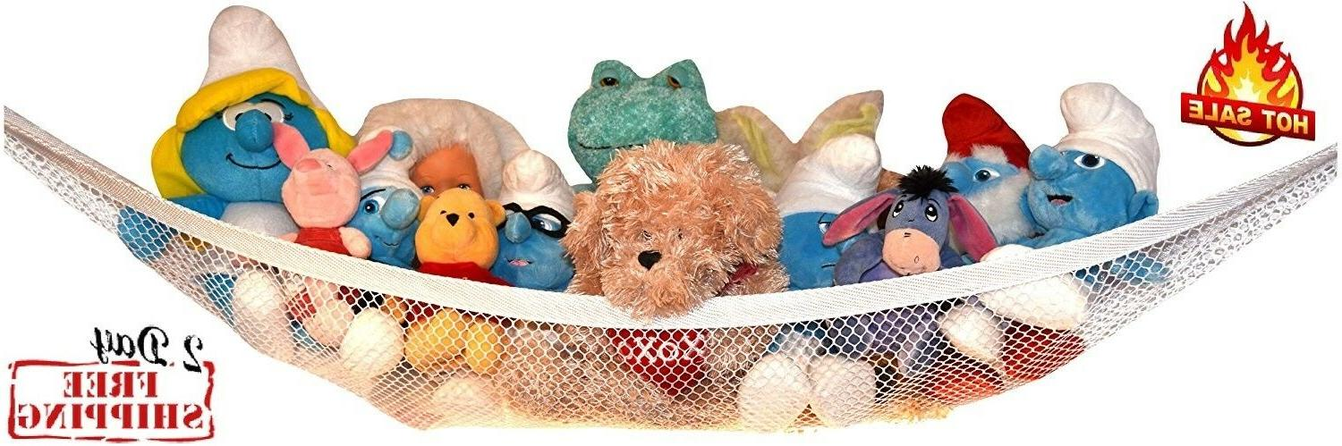 Toys Storage Animals Toy Hammock Children Kid Hanging Mesh