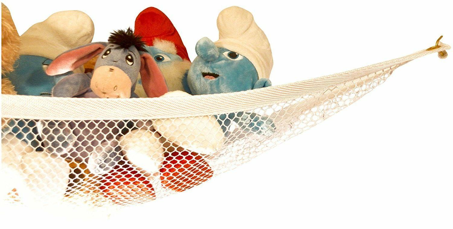 Toys Organizer Stuffed Animals Toy Hammock Kid Hanging Mesh Net