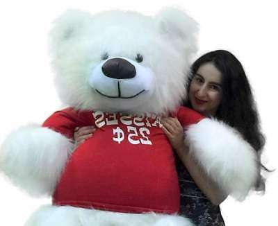 Valentine's Day Giant Teddy Wears Tshirt KISSES CENTS