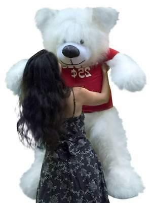 Valentine's Giant Teddy Bear inches Wears KISSES CENTS