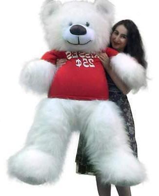valentine s day giant white teddy bear