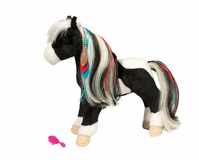 WARRIOR PRINCESS Black & White Horse by Douglas Cuddle Toy p