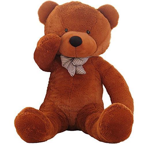 Life Size Light Brown 4.5 ft Teddy Bear Cuddly Stuffed Plush