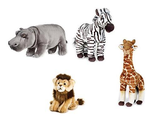 wild animals plush set