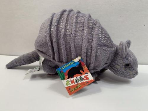 wildlife gray armadillo plush 6 in stuffed