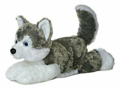 world flopsie plush siberian husky dog shadow