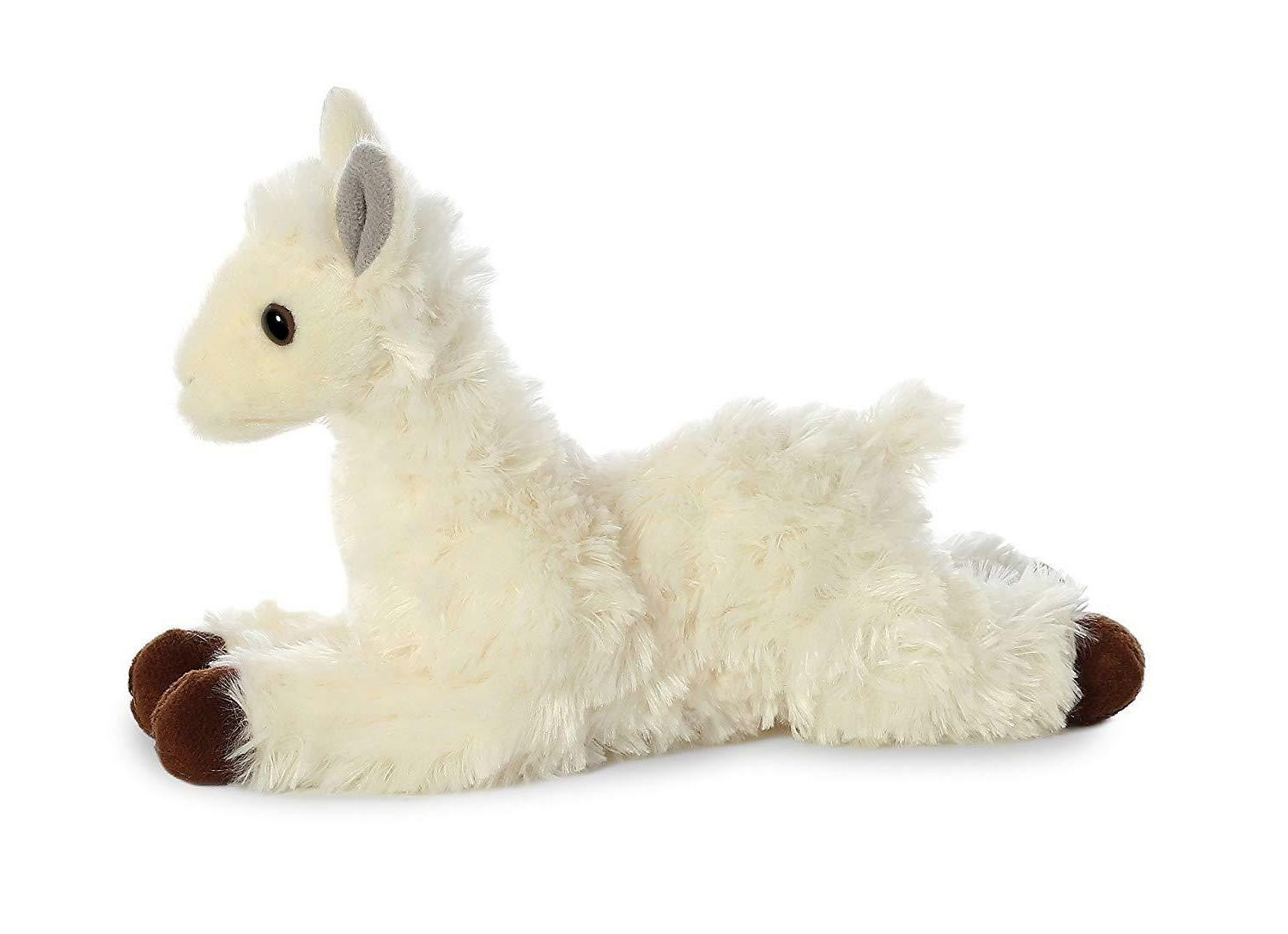 Aurora World Flopsie White/Cream Llama Stuffed Animal