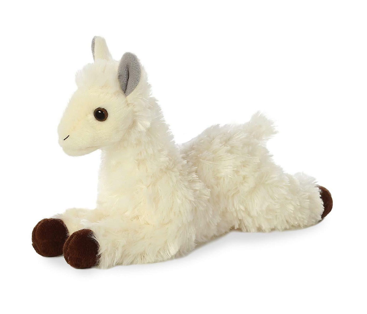 world mini flopsie white cream llama 8