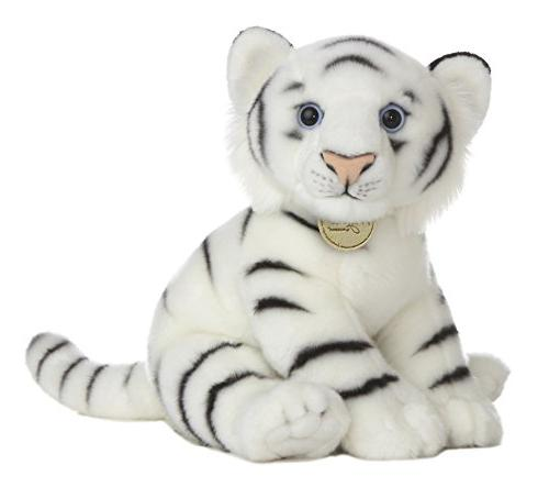 world miyoni stuffed white tiger