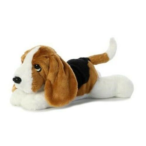 world plush basset hound dog