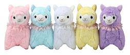 "KSB 7.3"" Pack Of 5 Lace Scarf Plush Alpaca,Cute Soft 100% Pl"