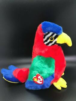 "Large Ty Beanie Babies Buddy 10"" Jabber Parrot Buddies Plush"