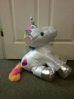 Large/Jumbo  Sparkle Rainbow Unicorn  valentine's day plush