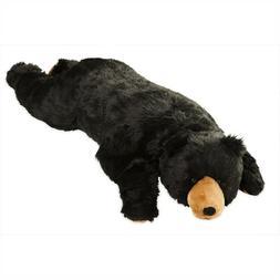 Large Life Sized Plush Black Bear Body Pillow