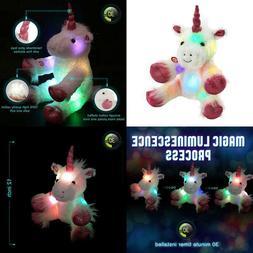 Wewill Led Glow Unicorn Lumious Stuffed Animals With Heavenl