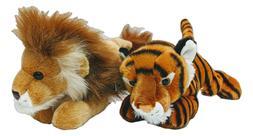 "LEONARDUS LION & INDIRA TIGER Flopsie 12"" Stuffed Animal Plu"