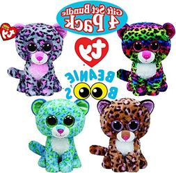f4fe5623569 TY Beanie Boos Leopard Gift Set Bundle Featuring Leona