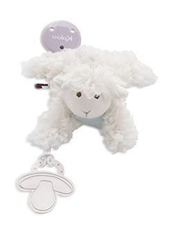 Kaloo Les Amis Doudou Pacifier Holder Lamb Plush, Vanilla