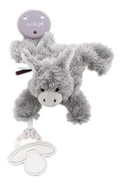 Kaloo Les Amis Doudou Pacifier Holder Donkey Plush, Grey