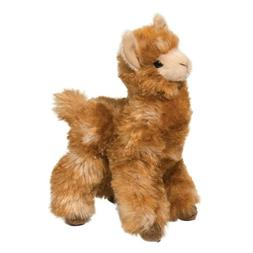 "LEXI LLAMA by Douglas Cuddle Toy 8.5"" tall stuffed golden pl"