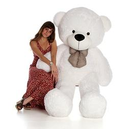 6 Foot Life Size Teddy Bear Heavenly White Color Fluffy Plus