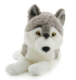Lifelike Siberian Wolf Stuffed Animal Plush Toy 16 Inches -