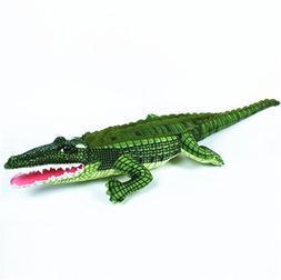 """XICHEN® 39"""" Lifesize Green Adorable crocodile Soft Plush To"""