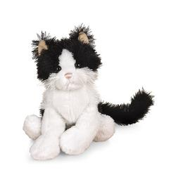 "Ganz Lil'Kinz Cat 6.5"" Plush, Black and White"