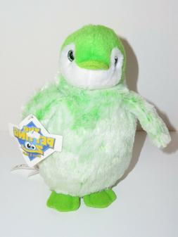 "The Petting Zoo Lime Green Penguin Plush Stuffed Animal 8"" G"