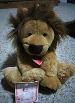 Lion Plush Stuffed Toy Animal figure with heart and crown by