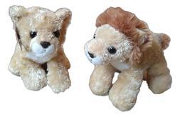 """LIONEL Lion & LEAH Lioness Mini Flopsie 8"""" Stuffed Animal Pl"""