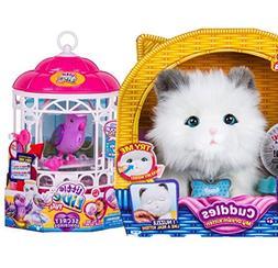 Little Live Pets Cuddles, My Dream Kitten & Bird Cage w Drea