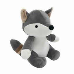 Bedtime Originals Little Rascals Plush Fox - Foxy - Gray, Wh