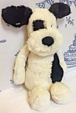 Jellycat London Bashful Black Spot Cream Puppy Dog Medium 12