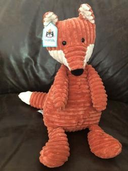 Jellycat London Medium Cordy Roy Stuffed Fox Animal NEW NWT